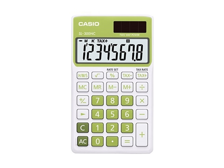 Casio Calculator SL300NC Body Leaf Green 8 Digits