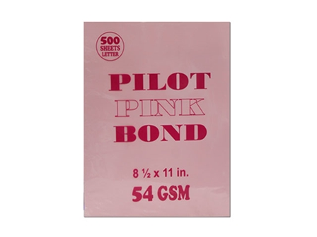 Pilot Colored Bond Paper Letter Pink 54gsm 500s
