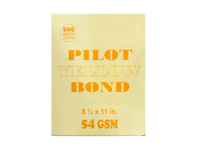 Pilot Colored Bond Paper Letter Yellow 54gsm  500s