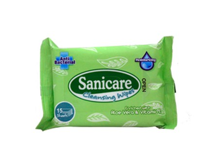 Sanicare Cleansing Wipes 15sht 15x20cm