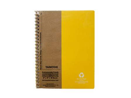 Tanoshi Spiral Notebook 80 Leaves