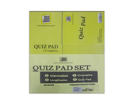 Office Warehouse Quiz Pad Set