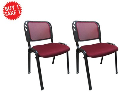 Buy One Take One Multi - Purpose Chair CF-304SM-D Red