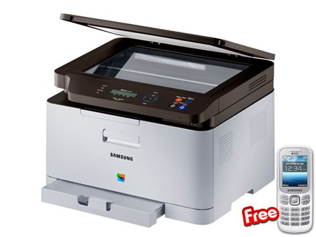 Samsung Printer SL-C460W 3IN1 with Free Phone
