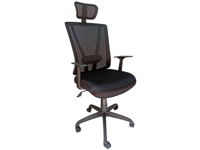 Executive Chair 88789A Mesh with Head Rest Black