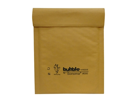 Sonoma Bubble Mailer #000 Golden Kraft / Clear 4