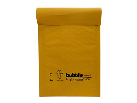 Sonoma Bubble Mailer #00 Golden Kraft / Clear 5x9
