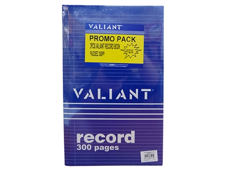 Valiant Record Book 300pg Promo Pack 2'S