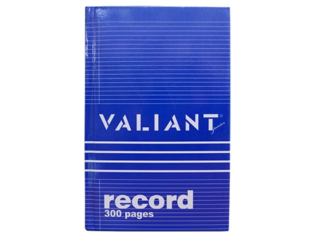 Valiant Record Book Junior 300P Blu