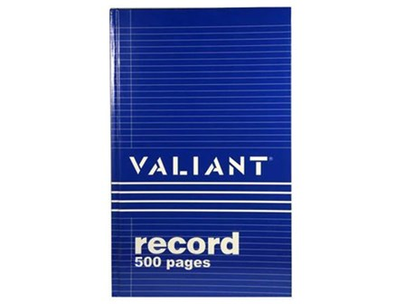Valiant Record Book Junior 500P Blu