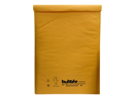 Sonoma Bubble Mailer R#6 Golden Kraft/Clear 12.5 x 19