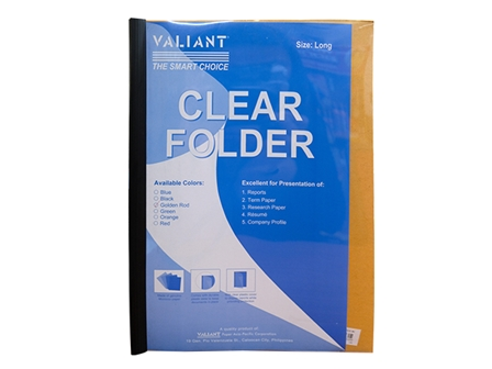 VALIANT FOLDER SLIDE CLEAR YEL LGL