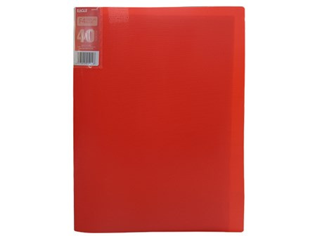 Eagle Clearbook 40PKT 9004FK F4 Red