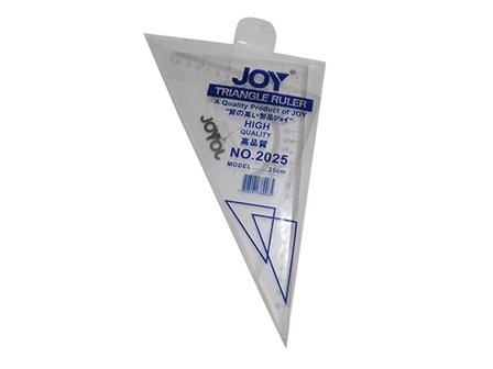 JOY RULER TRIANGLE 2025 25CM CLEAR