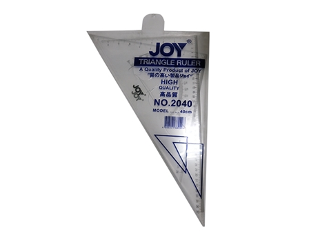 JOY RULER TRIANGLE 2040 40CM CLEAR