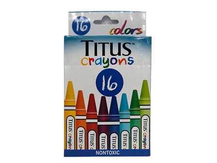 Titus Crayons 16 Colors