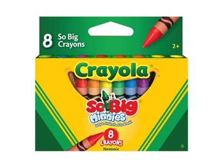 CRAYOLA CRAYONS SO BIG MINNIES 8COL