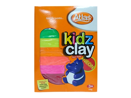 ATLAS CLAY KIDZ 110G 8COL