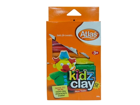 ATLAS CLAY KIDZ 200G 12COL