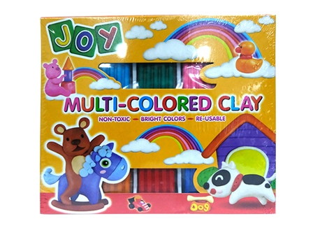 JOY MULTI-COLORED CLAY SCL3010 10'S ASSTD