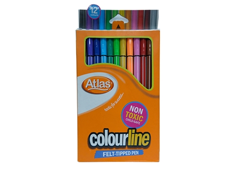 ATLAS COLORED PENCIL SPARX 12/BOX