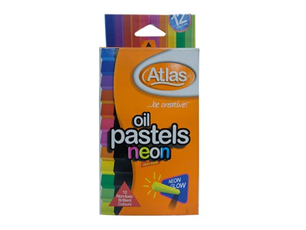 ATLAS OIL PASTEL NEON 12COL