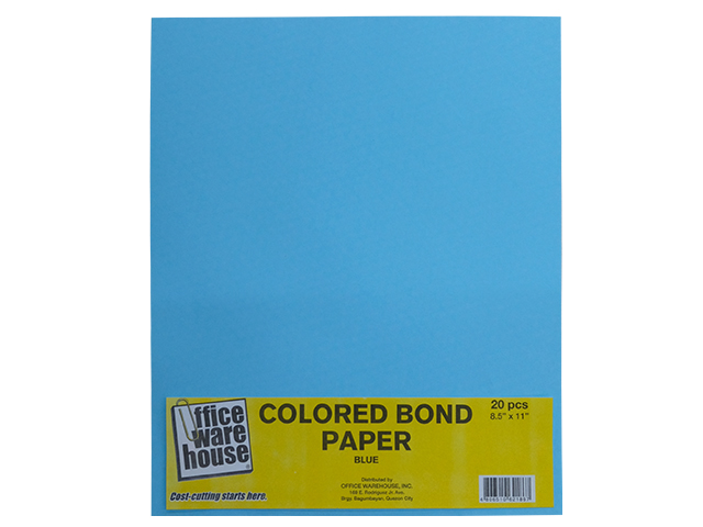 OWH BOND PAPER BLU LTR 20'S