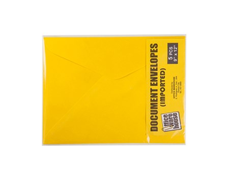 Exceline Envelope Document  150LB Golden Kraft 5's 9 x 12