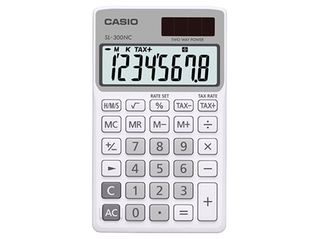 Casio Calculator SL-300NC White