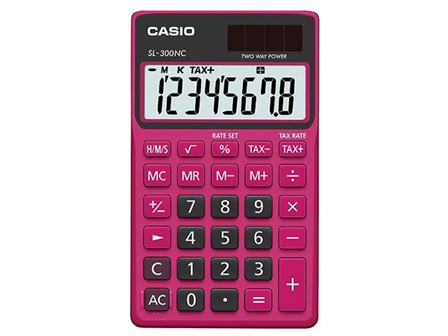 Casio Calculator SL-300NC Black/Red