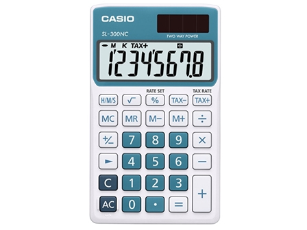 Casio Calculator SL-300NC Blue/White
