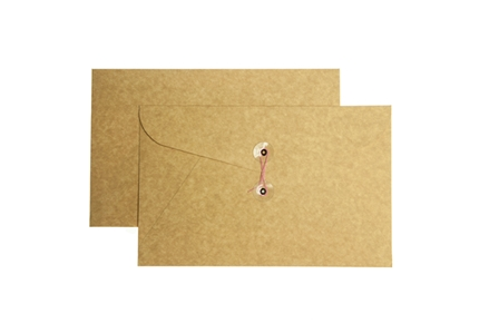 Click Document Envelope 002 w/String Kraft 7x11 5s