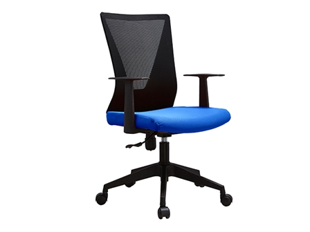 Managerial Chair HT-7068BEX Mesh Low Back Blue