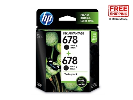 HP 678 Ink Cartridge L0S23AA Black 2s FS