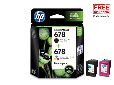 HP 678 Ink Cartridge L0S24AA Black / Colored 2s FS