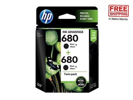 HP 680 Ink Cartridge X4E79AA Black 2S FS