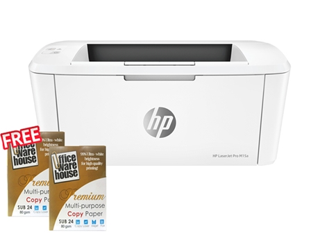 HP Printer M15A with FREE 2 Copy Paper-OPT B