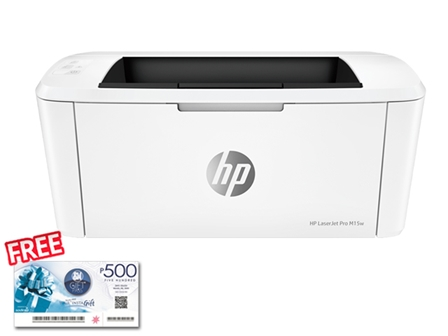 HP Printer M15W with FREE SM Gift Check worth 500-OPT C