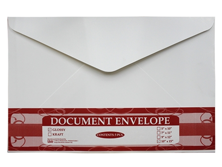 Click Envelope Document 5's White 9 x 12
