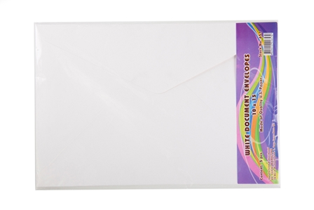 Click Envelope Document White 5's 10 x 5