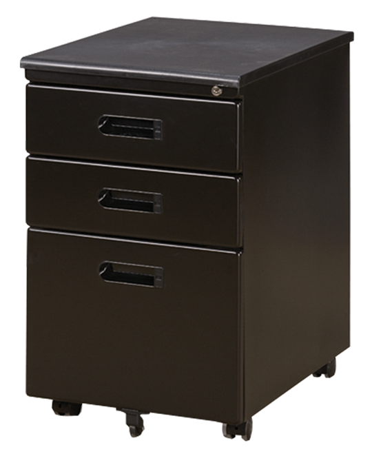 Mobile Pedestal 3-Drawer NA-FM001-05 Black