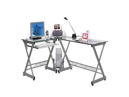 Computer Table CT3802 Silver