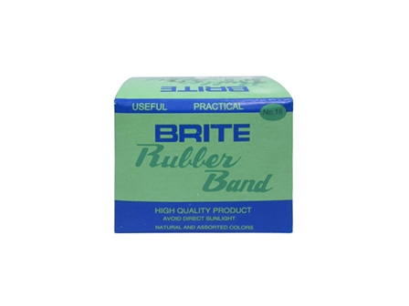 Brite Rubberband Flat Brown 50g