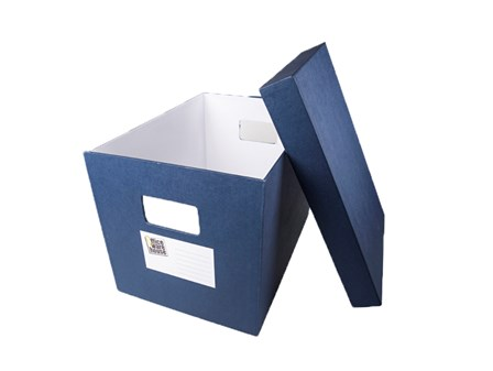 Office Warehouse Storage Box w/Lid Blue Legal