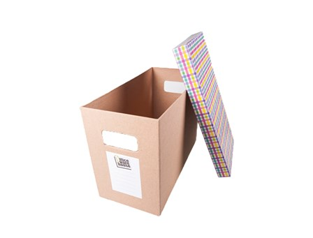 Office Warehouse Storage Box Slim Assorted Top Cover Kraft Legal