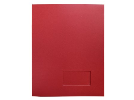 Star Paper Folder Presentation Red Letter