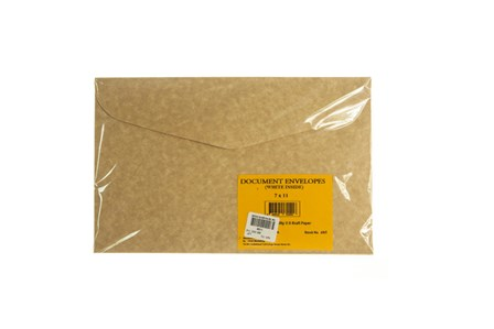 Envelope Document  006 Kraft 7 x 11 5/pack