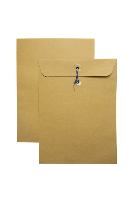 Catalog Envelope w/String Kraft 9 x 12