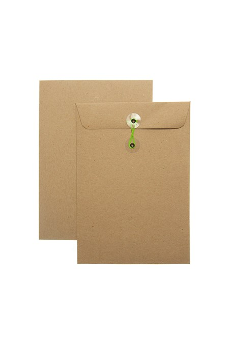 Catalog Envelope w/String Kraft 7 x 10
